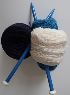 Fotografi af strikketøj