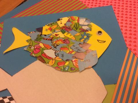 Foto af collage fisk