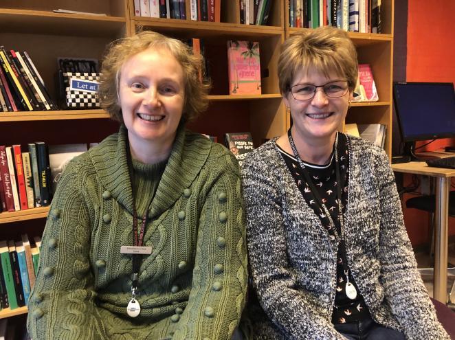 Foto af Dorte og Helle, februar 2019