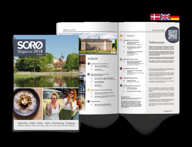 Forsiden af Sorø Turistmagasin 2018